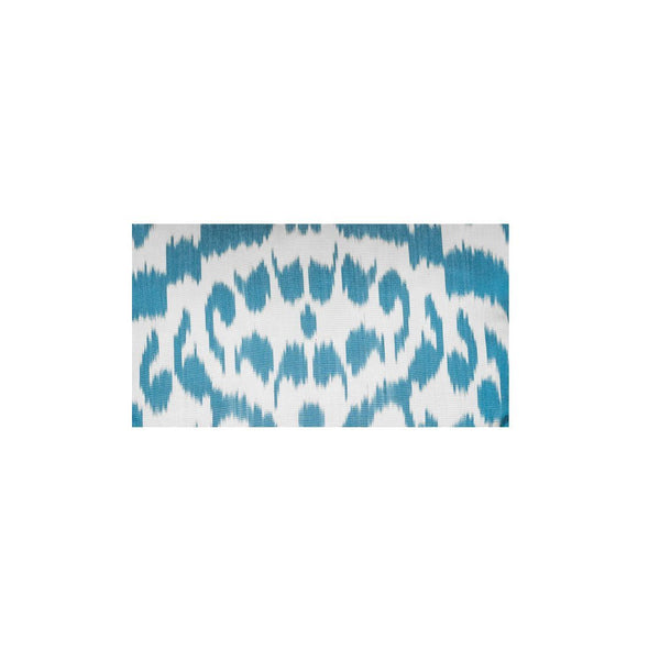 Kushaan Handwoven Silk Ikat Cushion Light Blue