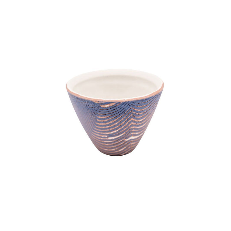 Sanghyuk Yoon Purple Striped Ceramic Bowl