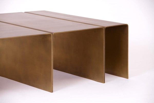 Estudio Persona Segment Brass Coffee Table
