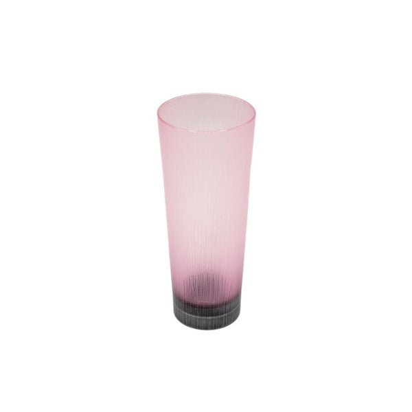Takeyoshi Mitsui Tall Ruby and Grey Silence Glass Tumbler
