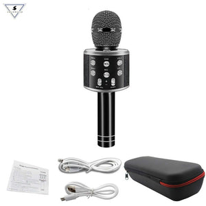 WS858 Professional Wireless karaoke Microphone Speaker Condenser Microfono with Bag Bluetooth Radio Studio Record Mic PK WS-858