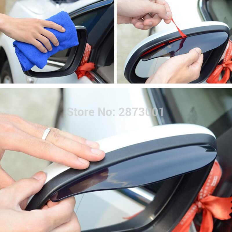 2Pcs Car Accessories Rearview Mirror Rain Shade for bmw e90 ford fiesta tiida renault clio lifan x60 ford focus fiat bravo