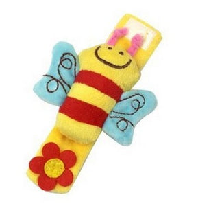 High-contrast Foot Finders Cartoon Bee/ladybug Baby Wrist Rattle Infant Bebe Socks Booties Baby Toys Wholesale