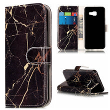 Cargar imagen en el visor de la galería, Fashion Marble PU Leather Flip Phone Case For Samsung Galaxy A3 A5 J3 J5 J7 2016 Funda Back Cover Luxury Wallet Coque Case Cover