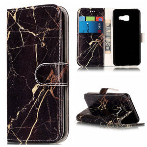 Fashion Marble PU Leather Flip Phone Case For Samsung Galaxy A3 A5 J3 J5 J7 2016 Funda Back Cover Luxury Wallet Coque Case Cover