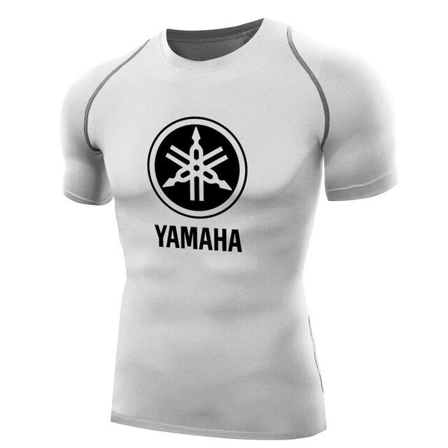 yamaha shirts for men Compression TShirt short sleeves t shirt quick dry fitness tops motor t-shirt boys camiseta