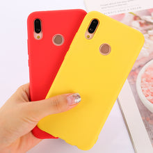 Cargar imagen en el visor de la galería, Matte Colorful cute Candy Anti-knock Soft phone case For Huawei P9 Plus P10 Lite Plus P20 Pro P20 lite P30 Pro fundas cover etui