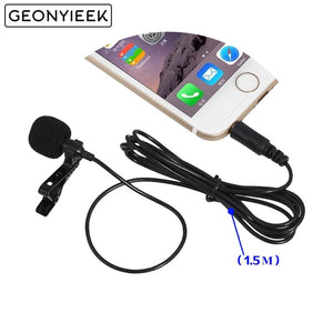 2 Pcs 3.5mm Jack Clip-on Lapel Microphones Lavalier Tie Mikrofon Microfono Mic for Mobile Phone For Speaking Lectures Wholesale