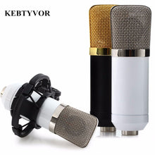 Cargar imagen en el visor de la galería, BM-700 Professional Wired Handheld Microphone 3.5mm Condenser With Shock Mount Microphone For Recording Computer Microfono