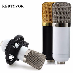 BM-700 Professional Wired Handheld Microphone 3.5mm Condenser With Shock Mount Microphone For Recording Computer Microfono
