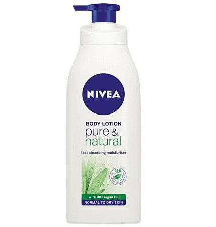 NIVEA PURE AND NATURAL LOTION 400ML