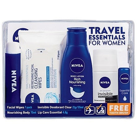 NIVEA WOMEN TRAVEL KIT 590ML