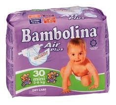 BAMBOLINA NAPPIES 30 MINI 3-6KG