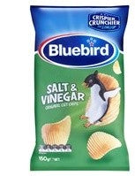 BLUEBIRD SALT & VINEGAR ORIGINAL CUT CHIPS 150G