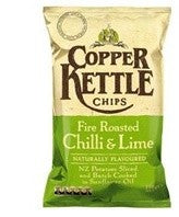 COPPER KETTLE CHIPS FIRE ROASTED CHILLI & LIME 150G