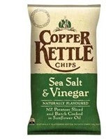 COPPER KETTLE CHIPS SEA SALT & VINEGAR 150G