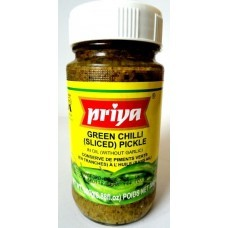 PRIYA GREEN CHILLI (SLICED) PICKLE 300G