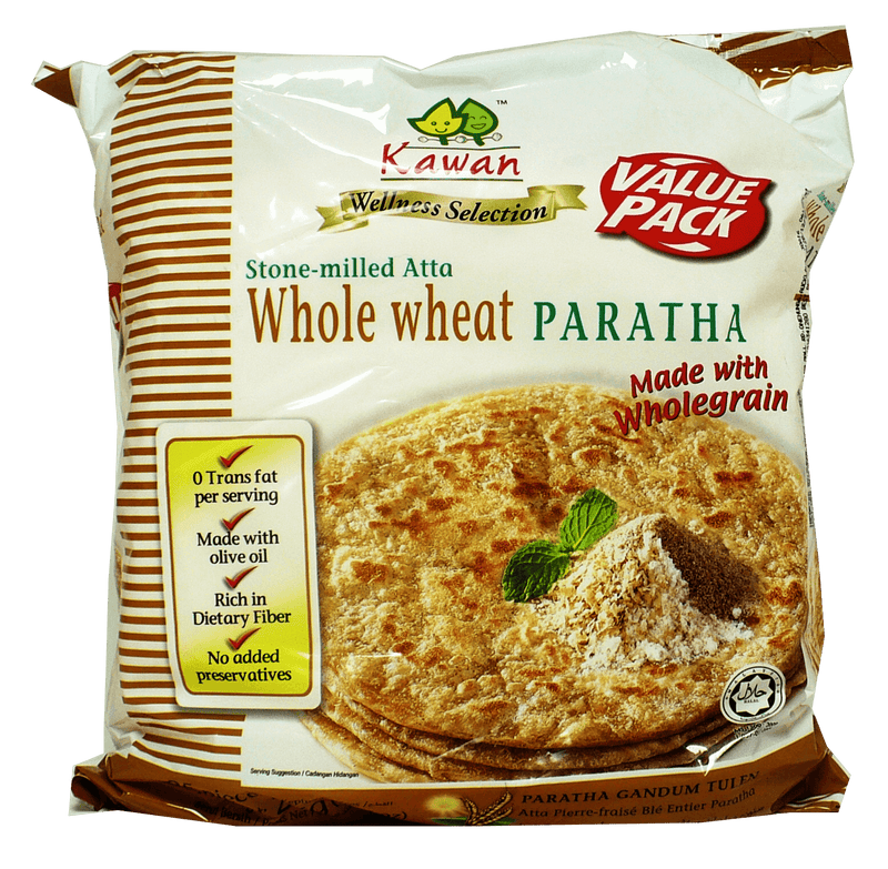 KAWAN WHOLE WHEAT PARATHA 25PCS 2KG
