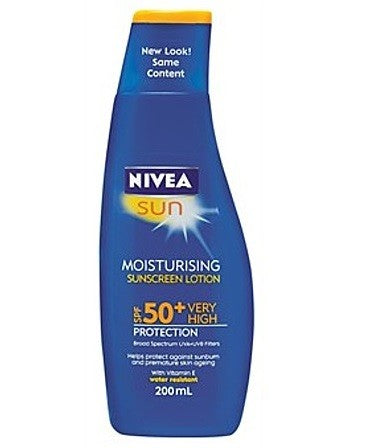 NIVEA MOISTURISING SUNSCREN LOTION SPF 50+ 200ML