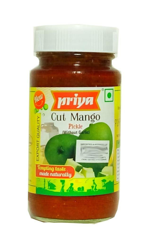 PRIYA CUT MANGO PICKLE (WITHOUT GARLIC) 300GM