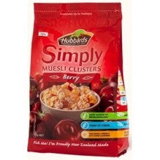 HUBBARD'S SIMPLY MUESLI CLUSTERS BERRY 425G