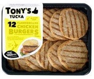 TONY'S TUCKA BURGER PATTIES FLAME GRILLED CHICKEN 12PACK