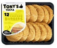 TONY'S TUCKA BURGER PATTIES SOUTHERN STYLE CHICKEN 12PACK
