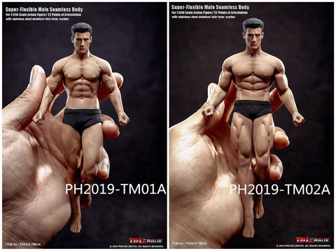 TBLeague 1/12th Scale Super Flexible Male Seamless Body PH2019-TM02A (Including head)
