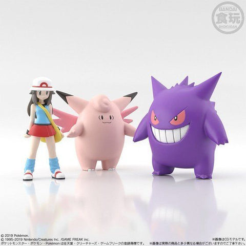 Pokemon Scale World Kanto Leaf, Clefable & Gengar