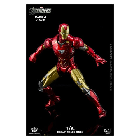 King Arts 1/9 Diecast Figure Series  DFS021 Diecast Action Iron Man Mark6