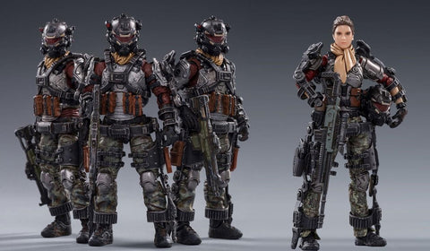 Hardcore Coldplay Skeleton Forces Double Sickle Squad + Helan 1/18 Scale Figure Set