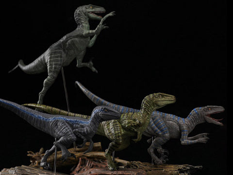 Jurassic Series Tactical Team (Ceasar) Raptor 1/35 Scale Figure Set