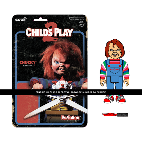Child's Play ReAction Evil Chucky Figure