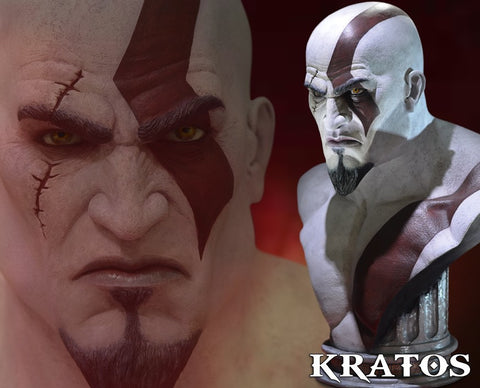 Gaming Heads - God of War: Ascension - Kratos Life Size Bust