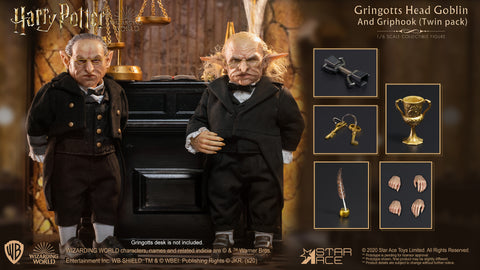 Gringotts Head Goblin & Griphook 1/6 Scale Figure TwinPack
