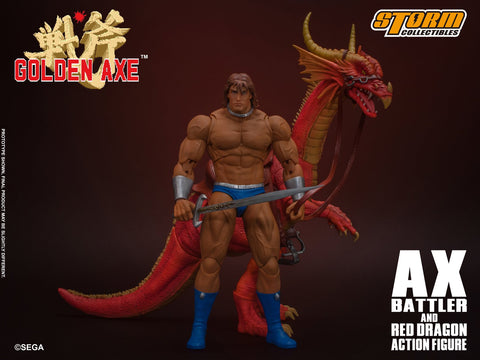 Storm Collectibles: Golden Axe - Ax Battler and Red Dragon Set