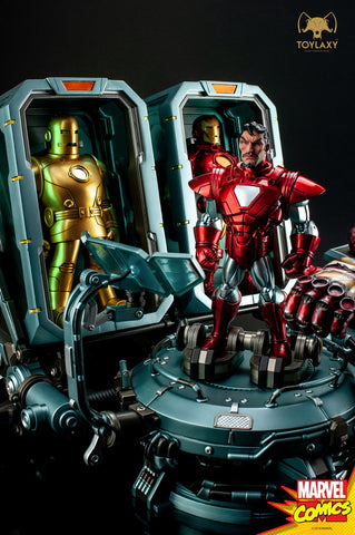 Toylaxy: Marvel Comics - Iron Man Hall of Armor Set B