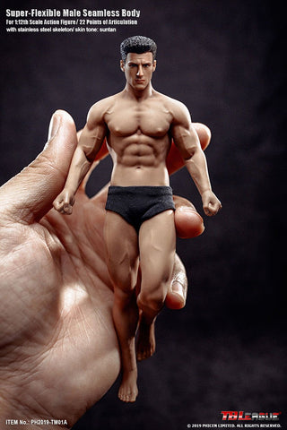 TBLeague 1/12th Scale Super Flexible Male Seamless Body PH2019-TM01A (Including head)