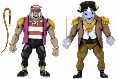 TMNT: Turtles in Time Pirate Rocksteady and Bebop Two-Pack