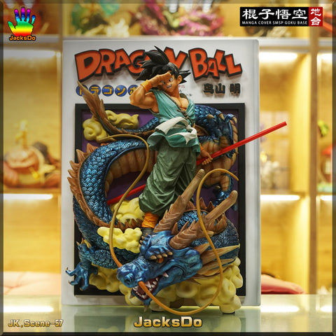 JacksDo DBZ Manga Cover SMSP GOKU Base GK Resin