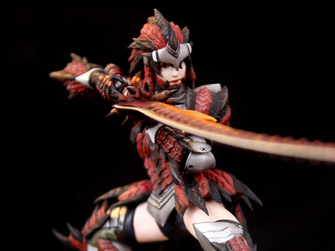 Monster Hunter Rathalos - Female Hunter 1/10 Scale Diorama