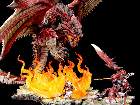 Monster Hunter Rathalos - Fiery Bundle 1/10 Scale Diorama