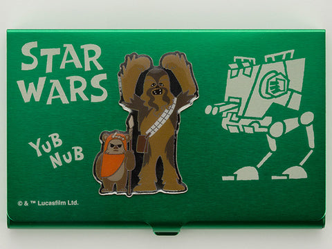 STAR WARS BUSINESS CARD HOLDER CHEWBACCA & EWOK