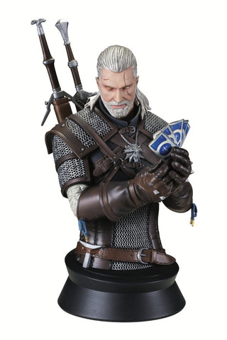 The Witcher 3: Wild Hunt Geralt (Playing Gwent) Bust