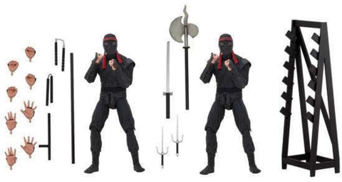 NECA: TMNT (1990 Movie) - Foot Soldier 2-Pack with Weapons Rack