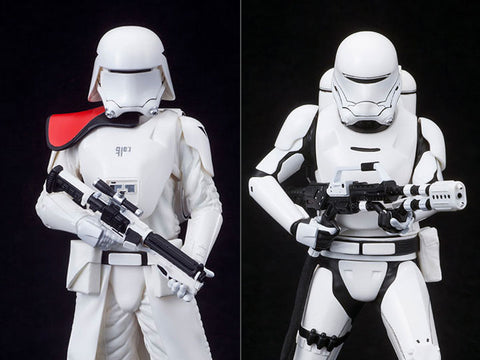 STAR WARS ARTFX+  FIRST ORDER SNOWTROOPER & FLAMETROOPER TWO PACK THE FORCE AWAKENS