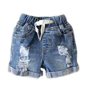Distressed Denim Shorts