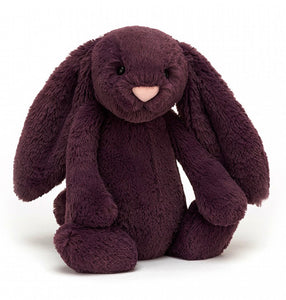 Bashful Plum Bunny Medium Jelly Cat