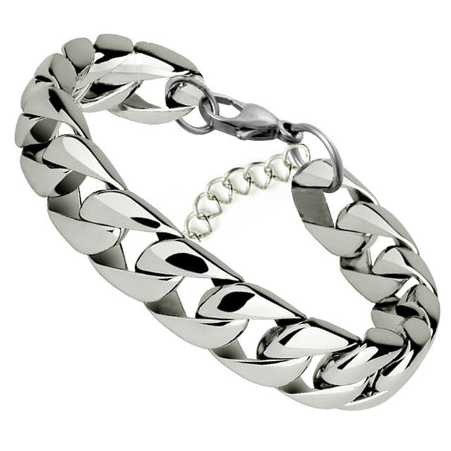 Cuban Stainless Steel Chain Bracelet