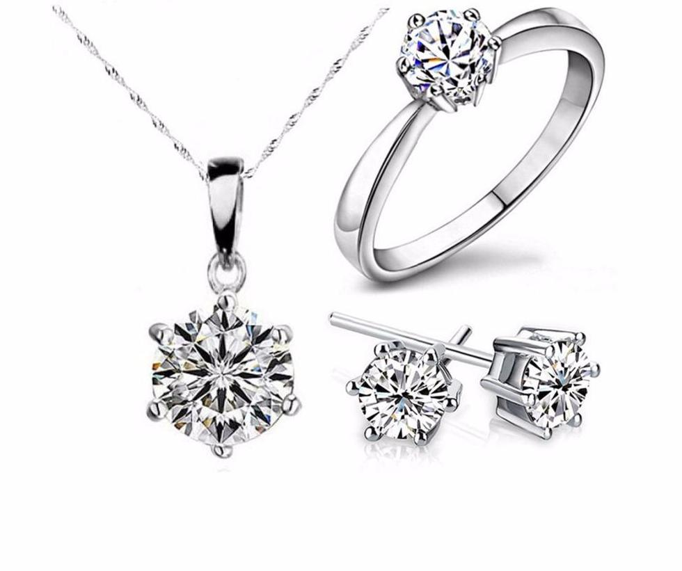 FREE Silver & Cubic Zircon Diamond Jewelry Set